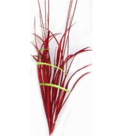 Искусственная трава 100 см, цвет красный