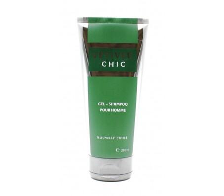 """Гель-шампунь для тела и волос мужской """"Ветивер CHIC"""", 200 мл"""