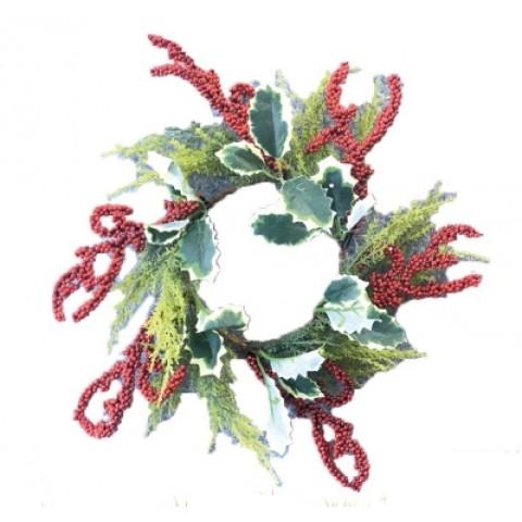 Рождественский венок с  шишками, 21 см