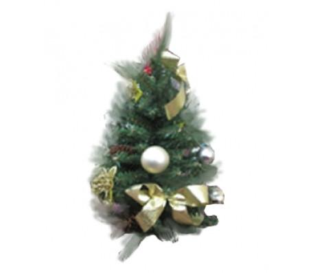 Новогоднее украшение ель с золотыми шарами, 30 см