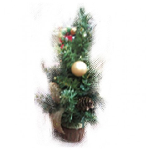 Новогоднее украшение ель с золотыми бантиками, 30 см