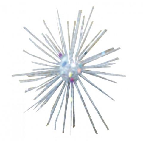 Новогоднее украшение серебряная звезда, 15 см