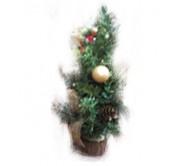 Новогоднее украшение ель с красными шарами, 38 см
