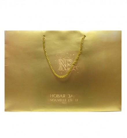Пакет золотой NE, 415х140х295 мм