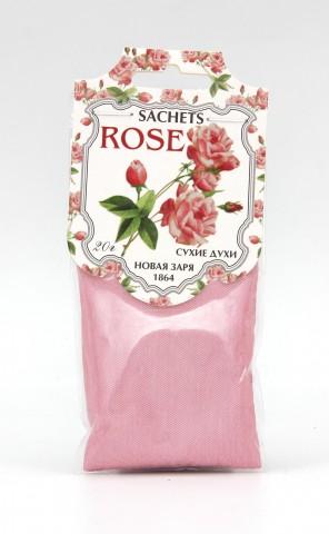 """Сухие духи """"Роза"""" на фигурном ярлыке, 20 г"""
