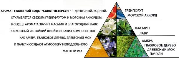 """Пирамида ароматов туалетной воды """"Санкт-Петербург"""""""