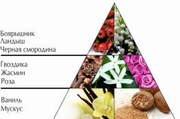 """Пирамида ароматов парфюмерной воды """"Цветок ночи"""""""