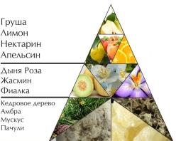 "Пирамида ароматов духов ""Тайна"""
