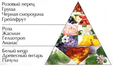 """Пирамида ароматов духов """"Любовь в цветах"""""""