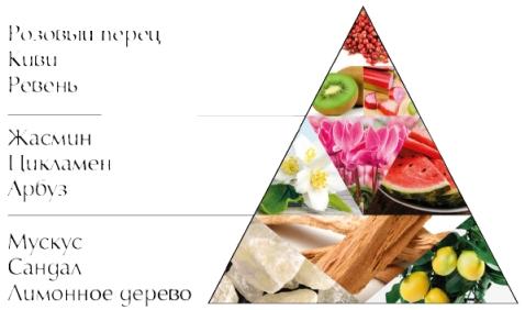 "Пирамида ароматов духов ""Сад цветов"""
