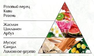 """Пирамида ароматов духи """"Сад цветов"""""""